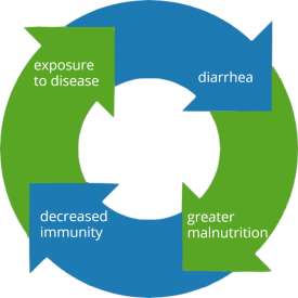 cycle of diarrhea and malnutrition