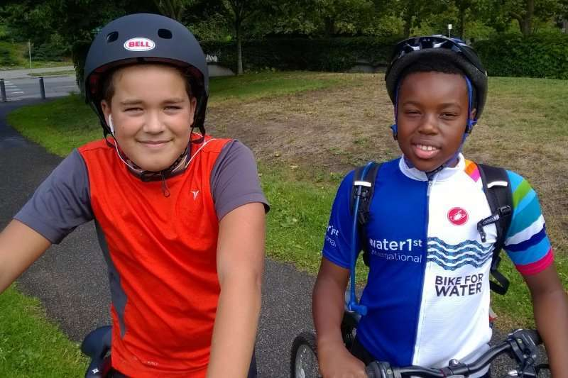 Cameron at Bike for Water