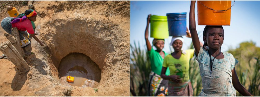 Until just a few weeks ago, water collection in 19 de Outubro was a grueling and time-consuming experience. Residents hand-dug deep holes in a desperate search for water.